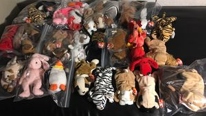 Over 30 TY Beanie babies with tags excellent condition for Sale in Chandler, AZ