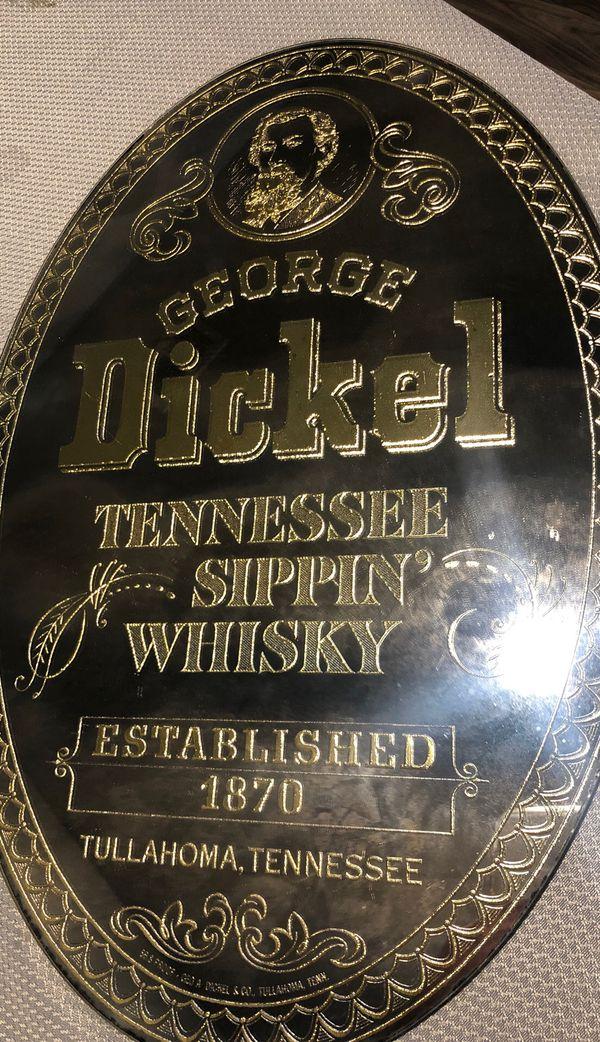 George Dickel Whiskey Bar Mirror Tennessee
