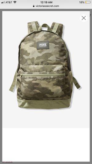 Victoria secret pink camo print backpack for Sale in Montebello, CA