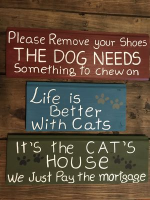 Funny cats and dog signs for Sale in Durham, NC