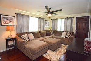MOVING SALE-Sectional couch with ottoman for Sale in Stanton, DE
