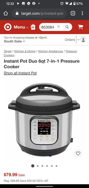 Instant Pot Duo 6qt 7-in-1 Pressure Cooker for Sale in Los Angeles, CA