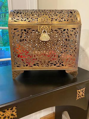 100% Pure Brass Handcrafted Moroccan Chest for Sale in Vienna, VA