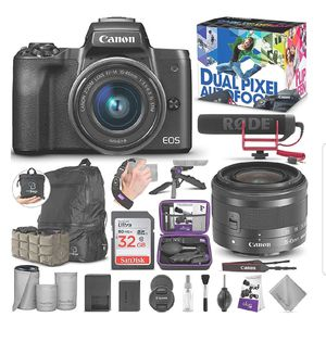 Canon EOS M50 Mirrorless Camera Bundle for Sale in Hillcrest Heights, MD