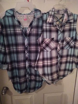Women'sTurquoise Plaid shirts for Sale in Fort Worth, TX
