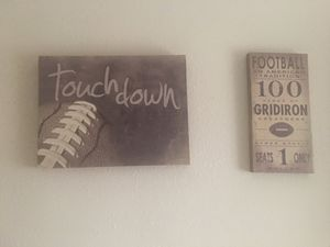Vintage Football Art- 3 pieces. Best offer for Sale in Livermore, CA