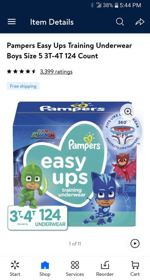 Pampers easy ups 3t-4t 124 count ( 1 in stock nw Section Front Display for Sale in Phoenix, AZ