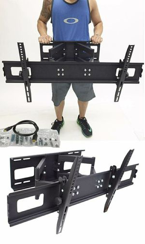 New in box 40 to 85 inches swivel full motion tv television wall mount bracket 110 lbs capacity with hardwares included for Sale in Montebello, CA