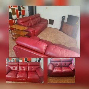 RED LEATHER SET for Sale in Portland, OR