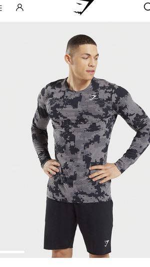 New Gymshark Men's Camo Long Sleeve Shirt for Sale in Los Angeles, CA