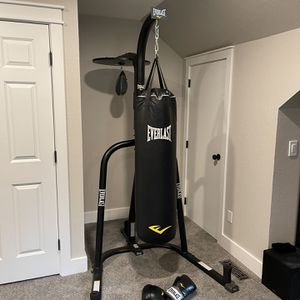 Everlast Heavy Bag / Punching Bag, Speed Bag, Stand, and Gloves for Sale in Redmond, WA