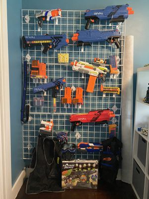 Nerf Gun sale including Rival guns, vest, eye protector and ammo. for Sale in Miami Beach, FL