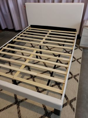 New FULL upholstered bed frame, mattress sold separately for Sale in West Palm Beach, FL