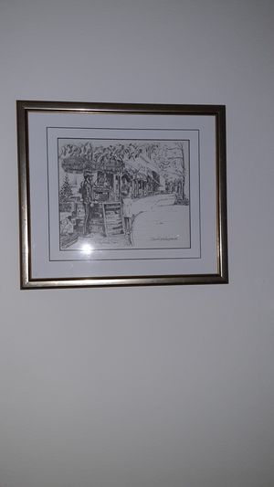 A pair of black and white signed paint for Sale in Pembroke Pines, FL