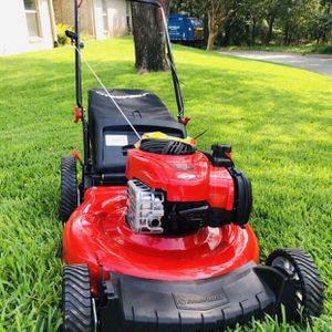 """Troy Bilt 21"""" TB110 Push Mower With Bag - Like New for Sale in Arlington, TX"""