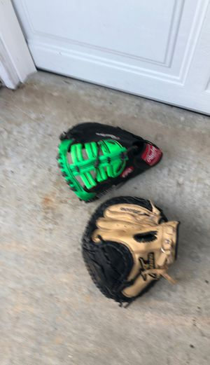 Baseball Lefty gloves 1st base Rawlings and Mizuno Catchers little league for Sale in Encinitas, CA