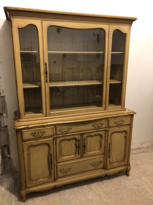 Antique French Provincial Dining Room Hutch & Serving Cart for Sale in Pittsburgh, PA