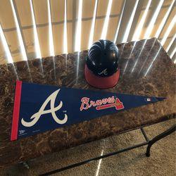 Atlanta Braves Pennant & Batting Helmet for Sale in Kent,  WA