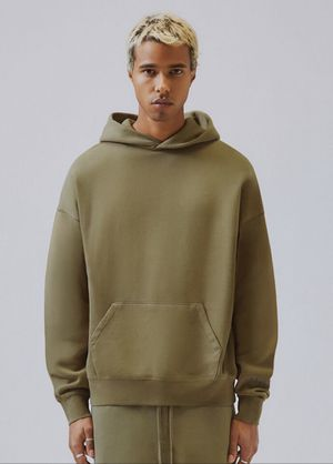 Fear of God Essentials Olive Green Pullover Hoodie Size M for Sale in Queens, NY