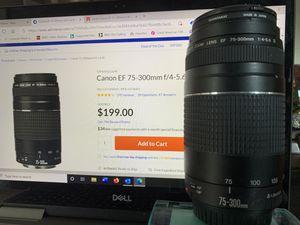 Canon 75-300 Zoom Camera Lens for Sale in Manakin-Sabot, VA