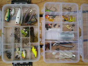 Fishing lures, tackle boxes for Sale in Baltimore, MD