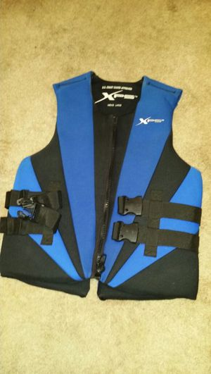 Xps water ski vest men's large chest size 40-42.5 inches coast guard approved for Sale in West Palm Beach, FL
