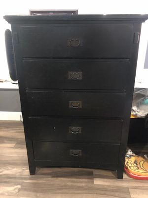 Bed frame and dresser for Sale in Rialto, CA