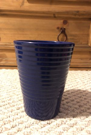 Blue planting pot or vase for Sale in Springfield, VA