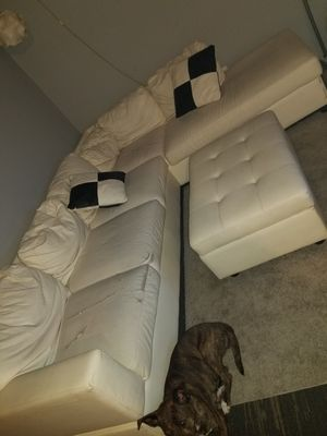 White leather sectional for Sale in Columbus, OH