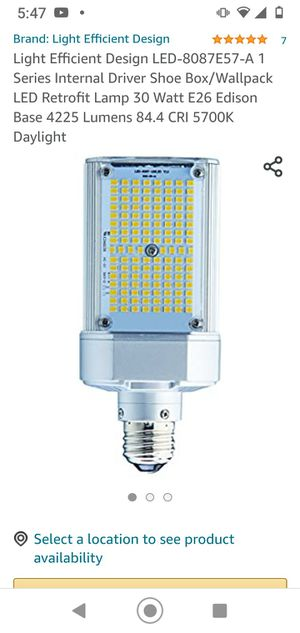 Led Retrofit 30 watt New!! Only 40 dollars (I have 6 pieces). Big big deal!! for Sale in Jamaica, NY