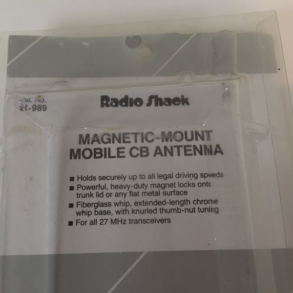 "Mobile CB Antenna Magnetic Mount Radio Shack 40"" High Cat  No  21-989 for  Sale in Land O Lakes, FL - OfferUp"