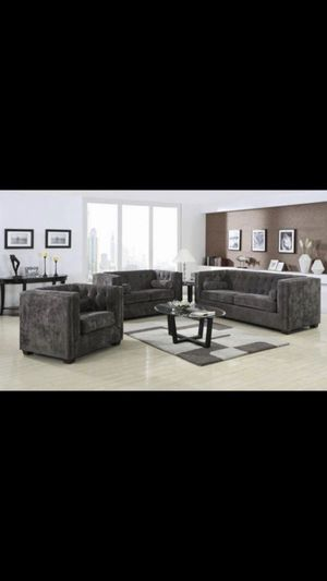 Beautiful new 3 piece sofa set (1 sofa, 1 loveseat, 1 chair) only 1,299$!!! for Sale in San Leandro, CA