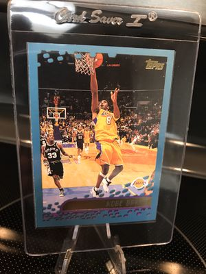 2001 Topps Kobe Bryant Basketball Card - Lakers Jersey 8 Black Mamba Memorabilia - RARE NBA Collectible - MINT - $29 OBO for Sale in Carlsbad, CA