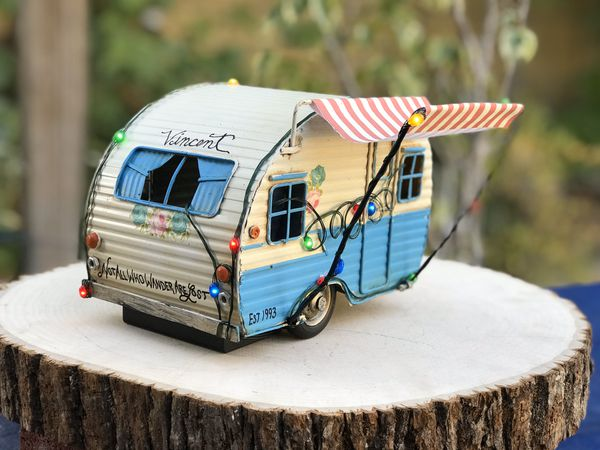 Customized Vintage Trailer- Available NOW for Christmas 2020-