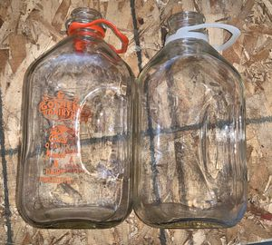 Set of 2, glass antique milk jugs for Sale in Columbus, OH