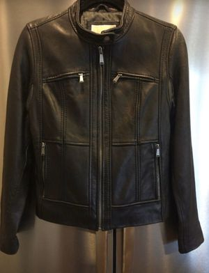 Michael kors women's black leather Moto jacket for Sale in Kirkland, WA