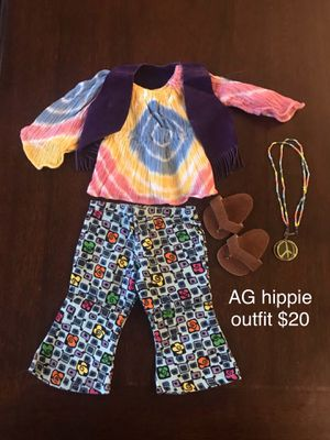 American girl hippie hippy outfit costume for Sale in Clovis, CA
