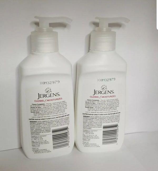 Jergens Extra Moisturizing Hand Wash Lot of 2 Cherry-Almond 7.50 oz