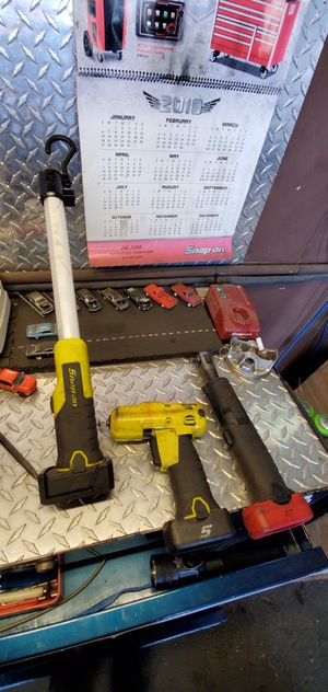 Snap on power tools set impact, ratchet and worklight for Sale in San Diego, CA
