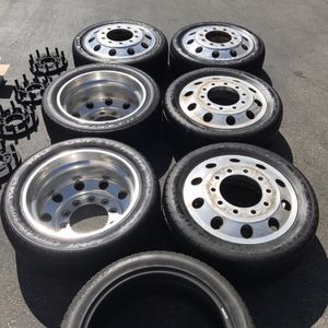 "22"" Custom Billet 10-Lug AMERICAN FORCE Dually Truck Wheels - 8 Lug Adapter Kit - Dodge Ford Chevy GMC 3500 4500 Turbo Diesel Ram Silverado for Sale in Vista, CA"