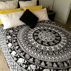 Black and White Indian Handmade Boho Mandala Queen Size Bed Sheet - New Save $60 for Sale in Raleigh, NC