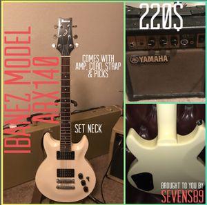 Ibanez Set Neck Guitar Bundle includes Amp, Cord, Strap, & Picks for Sale in Houston, TX