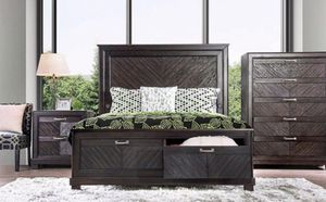 Brand New 4 Piece Espresso Bedroom Set for Sale in Tracy, CA