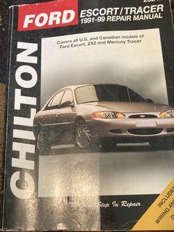 Ford Escort/Tracer Chilton Repair Manual for Sale in Tacoma,  WA