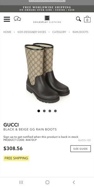 Gucci Rain boots for Sale in Riverside, CA