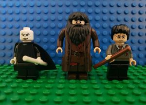 Lego Harry Potter Minifigures: Hagrid, Voldemort & Harry (From Set #4865) for Sale in Fullerton, CA