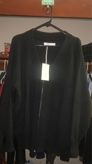 Black Cardigan With zipper for Sale in Hayward, CA