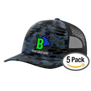 5 Kryptek Custom logo Embroidered Snapback Cap - Free Logo Setup - Pack Of 5  for 1528a6296572