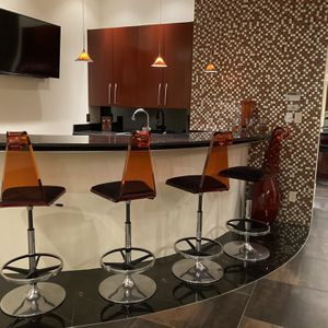 Contemporary Hydraulic Bar Stools Set of 4 for Sale in Scottsdale, AZ