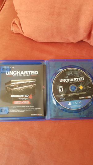 Ps4 games- Uncharted (The Lost Legacy) for Sale in Manassas, VA